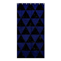 Triangle3 Black Marble & Blue Leather Shower Curtain 36  X 72  (stall) by trendistuff