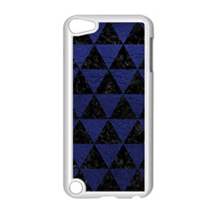 Triangle3 Black Marble & Blue Leather Apple Ipod Touch 5 Case (white) by trendistuff