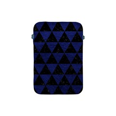 Triangle3 Black Marble & Blue Leather Apple Ipad Mini Protective Soft Case by trendistuff