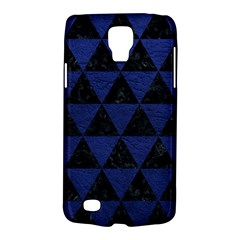 Triangle3 Black Marble & Blue Leather Samsung Galaxy S4 Active (i9295) Hardshell Case by trendistuff
