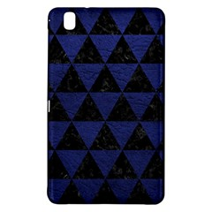 Triangle3 Black Marble & Blue Leather Samsung Galaxy Tab Pro 8 4 Hardshell Case by trendistuff