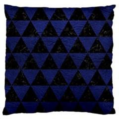 Triangle3 Black Marble & Blue Leather Standard Flano Cushion Case (one Side) by trendistuff