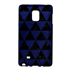 Triangle3 Black Marble & Blue Leather Samsung Galaxy Note Edge Hardshell Case by trendistuff