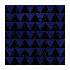 Triangle2 Black Marble & Blue Leather Medium Glasses Cloth (2 Sides) by trendistuff