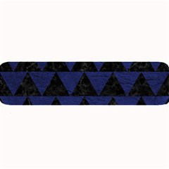 Triangle2 Black Marble & Blue Leather Large Bar Mat by trendistuff