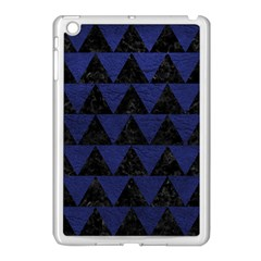Triangle2 Black Marble & Blue Leather Apple Ipad Mini Case (white) by trendistuff