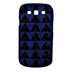 Triangle2 Black Marble & Blue Leather Samsung Galaxy S Iii Classic Hardshell Case (pc+silicone) by trendistuff