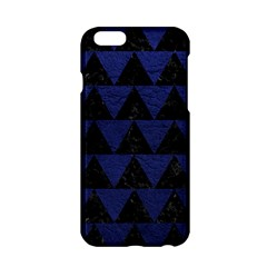 Triangle2 Black Marble & Blue Leather Apple Iphone 6/6s Hardshell Case by trendistuff
