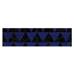 Triangle2 Black Marble & Blue Leather Satin Scarf (oblong) by trendistuff