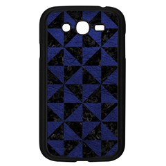 Triangle1 Black Marble & Blue Leather Samsung Galaxy Grand Duos I9082 Case (black)