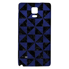 Triangle1 Black Marble & Blue Leather Samsung Note 4 Hardshell Back Case by trendistuff