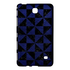 Triangle1 Black Marble & Blue Leather Samsung Galaxy Tab 4 (8 ) Hardshell Case  by trendistuff