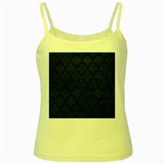 Tile1 Black Marble & Blue Leather (r) Yellow Spaghetti Tank by trendistuff
