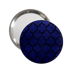 Tile1 Black Marble & Blue Leather (r) 2 25  Handbag Mirror by trendistuff