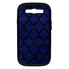 Tile1 Black Marble & Blue Leather (r) Samsung Galaxy S Iii Hardshell Case (pc+silicone) by trendistuff
