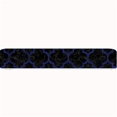 Tile1 Black Marble & Blue Leather Small Bar Mat by trendistuff