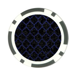 Tile1 Black Marble & Blue Leather Poker Chip Card Guard (10 Pack) by trendistuff