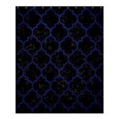 Tile1 Black Marble & Blue Leather Shower Curtain 60  X 72  (medium) by trendistuff
