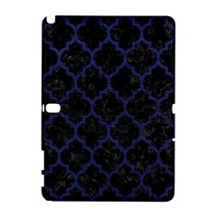 Tile1 Black Marble & Blue Leather Samsung Galaxy Note 10 1 (p600) Hardshell Case by trendistuff