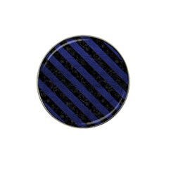 Stripes3 Black Marble & Blue Leather (r) Hat Clip Ball Marker (10 Pack) by trendistuff