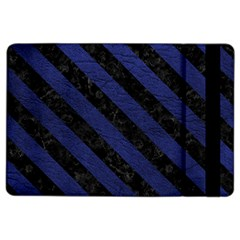 Stripes3 Black Marble & Blue Leather (r) Apple Ipad Air 2 Flip Case by trendistuff