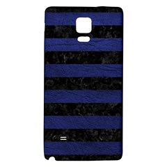 Stripes2 Black Marble & Blue Leather Samsung Note 4 Hardshell Back Case by trendistuff