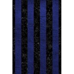 Stripes1 Black Marble & Blue Leather 5 5  X 8 5  Notebook by trendistuff
