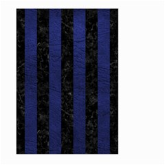 Stripes1 Black Marble & Blue Leather Large Garden Flag (two Sides) by trendistuff