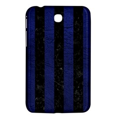 Stripes1 Black Marble & Blue Leather Samsung Galaxy Tab 3 (7 ) P3200 Hardshell Case  by trendistuff