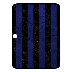 Stripes1 Black Marble & Blue Leather Samsung Galaxy Tab 3 (10 1 ) P5200 Hardshell Case  by trendistuff
