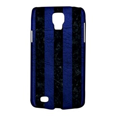 Stripes1 Black Marble & Blue Leather Samsung Galaxy S4 Active (i9295) Hardshell Case by trendistuff