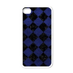 Square2 Black Marble & Blue Leather Apple Iphone 4 Case (white)