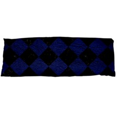 Square2 Black Marble & Blue Leather Body Pillow Case Dakimakura (two Sides) by trendistuff