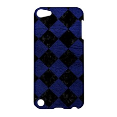 Square2 Black Marble & Blue Leather Apple Ipod Touch 5 Hardshell Case by trendistuff