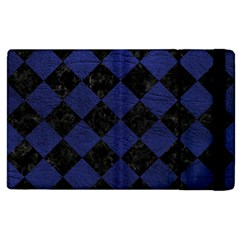 Square2 Black Marble & Blue Leather Apple Ipad 2 Flip Case by trendistuff