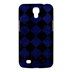 Square2 Black Marble & Blue Leather Samsung Galaxy Mega 6 3  I9200 Hardshell Case by trendistuff