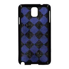 Square2 Black Marble & Blue Leather Samsung Galaxy Note 3 Neo Hardshell Case (black) by trendistuff