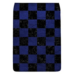 Square1 Black Marble & Blue Leather Removable Flap Cover (l) by trendistuff