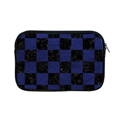 Square1 Black Marble & Blue Leather Apple Ipad Mini Zipper Case