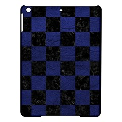 Square1 Black Marble & Blue Leather Apple Ipad Air Hardshell Case by trendistuff