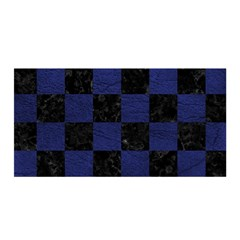 Square1 Black Marble & Blue Leather Satin Wrap by trendistuff