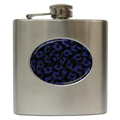 Skin5 Black Marble & Blue Leather (r) Hip Flask (6 Oz) by trendistuff