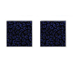Skin5 Black Marble & Blue Leather (r) Cufflinks (square) by trendistuff