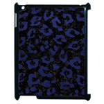 SKIN5 BLACK MARBLE & BLUE LEATHER (R) Apple iPad 2 Case (Black) Front
