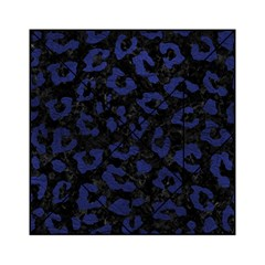 Skin5 Black Marble & Blue Leather (r) Acrylic Tangram Puzzle (6  X 6 ) by trendistuff