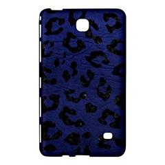 Skin5 Black Marble & Blue Leather Samsung Galaxy Tab 4 (7 ) Hardshell Case  by trendistuff