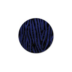 Skin4 Black Marble & Blue Leather (r) Golf Ball Marker (4 Pack) by trendistuff