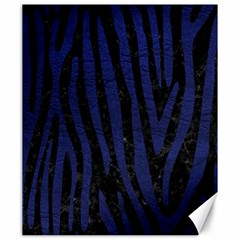 Skin4 Black Marble & Blue Leather (r) Canvas 20  X 24  by trendistuff