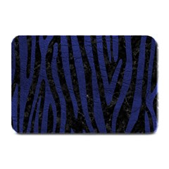 Skin4 Black Marble & Blue Leather (r) Plate Mat by trendistuff