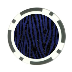 Skin4 Black Marble & Blue Leather (r) Poker Chip Card Guard (10 Pack) by trendistuff